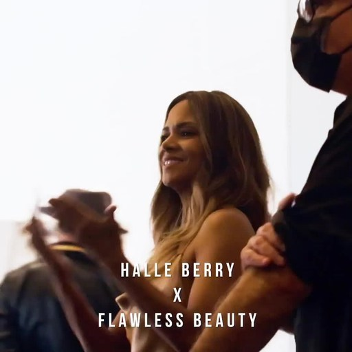 Halle Berry Behind the Scenes while shooting the new Finishing Touch Flawless TV campaign that launches January 2021.