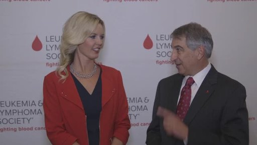 Dr. Louis DeGennaro, President & CEO, The Leukemia & Lymphoma Society and Stacy Sager, president of SAGERSTRONG Foundation and widow of Craig Sager.
