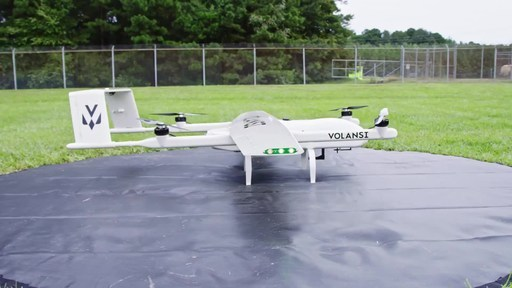 "Volansi, the leader in middle-mile drone delivery services, announces it has begun a commercial healthcare drone delivery project in North Carolina with Merck. The project utilizes Volansi's VOLY C10, an all-electric drone capable of carrying 10-pounds of cargo to locations up to 50 miles away. The VOLY C10's vertical take-off and landing (VTOL) system allows it to deliver fragile cargo with a ""soft touch"" automated release once the drone has landed at the delivery location."