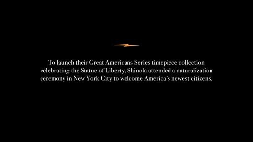 """""""As American as they come"""" can come from anywhere. Watch the full film on Shinola.com/Liberty"""