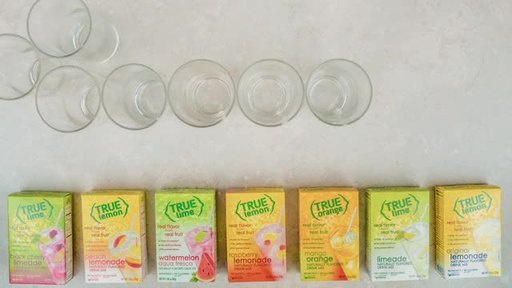Staying hydrated is easy with True Lemon lemonades & True Lime limeades. Made with simple ingredients (so NO artificial sweeteners, flavors, preservatives, sodium or gluten), each convenient stick packet has only 10 calories per stick. Available in 9 delicious flavors including original, strawberry, wildberry and peach lemoande, and black cherry and watermelon limeade. And if you just want a fresh-squeezed lemon or lime taste, try True Lemon and True Lime. Available in over 34,000 stores nationwide. For stores & coupons, visit TrueLemon.com.