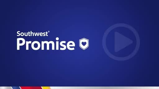 The Southwest Promise and our cabin air filtration process supports Customers throughout their travel journey.
