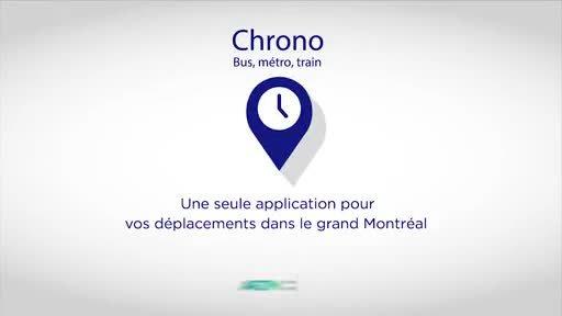 Vidéo : Nouvelle application mobile métropolitaine - Chrono : pour simplifier la planification des déplacements en transport collectif dans la région métropolitaine de Montréal