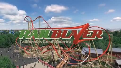 California's Great America will introduce a groundbreaking new single rail steel coaster, RailBlazer, for the 2018 season. RailBlazer will be the first coaster of its kind on the West Coast featuring a single rail track throughout; the design requires the rider to straddle the rail, creating an extremely low center of gravity that amplifies every move and enables more dynamic turns and rotations than have ever been possible on a coaster.