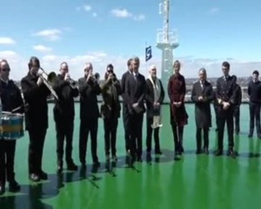 The Grimaldi Group Christens Grande New York In The Port Of New York-New Jersey