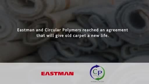 Eastman has partnered with Circular Polymers, a company that reclaims post- consumer waste products for recycling to secure a consistent source of feedstock for carbon renewal technology, an innovative chemical recycling method.