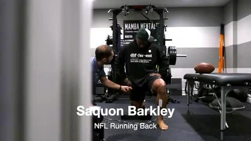 Saquon Barkley Enhances Recovery from Torn ACL with Neuromuscular Stimulation