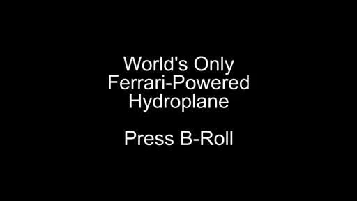 Imágenes del único hidroplano del mundo equipado con motor Ferrari