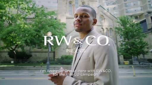 RW&有限公司与奥运选手安德烈·德·格拉斯(Andre De Grasse)和詹妮弗·阿贝尔(Jennifer Abel)合作2021年秋季