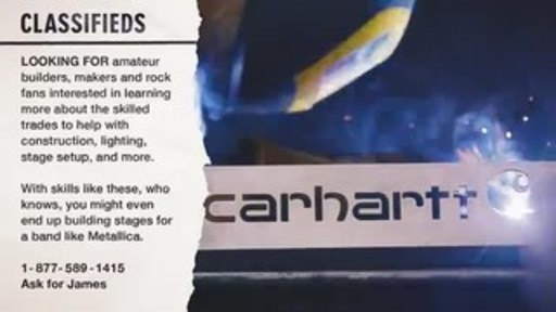 """Carhartt and Metallica's All Within My Hands Foundation Reimagine 1981 """"Musicians Wanted"""" Ad to Recruit Skilled Workers this Labor Day"""
