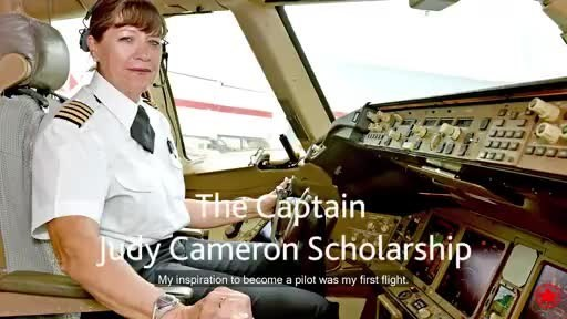 Retired Air Canada pilot Judy Cameron, the first female pilot at the airline, recently had a scholarship named in her honour. Hear what advice she has for women who want to follow in her footsteps.