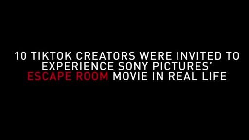 "TikTok and Sony Pictures Entertainment Team Up on a Promotional Campaign for the Feature Film ""Escape Room"""