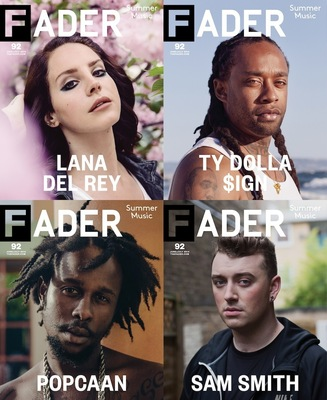 The FADER Releases Four-Cover Summer Music Issue Featuring Exclusive Interviews With Lana Del Rey, Sam Smith, And More (PRNewsFoto/The FADER)