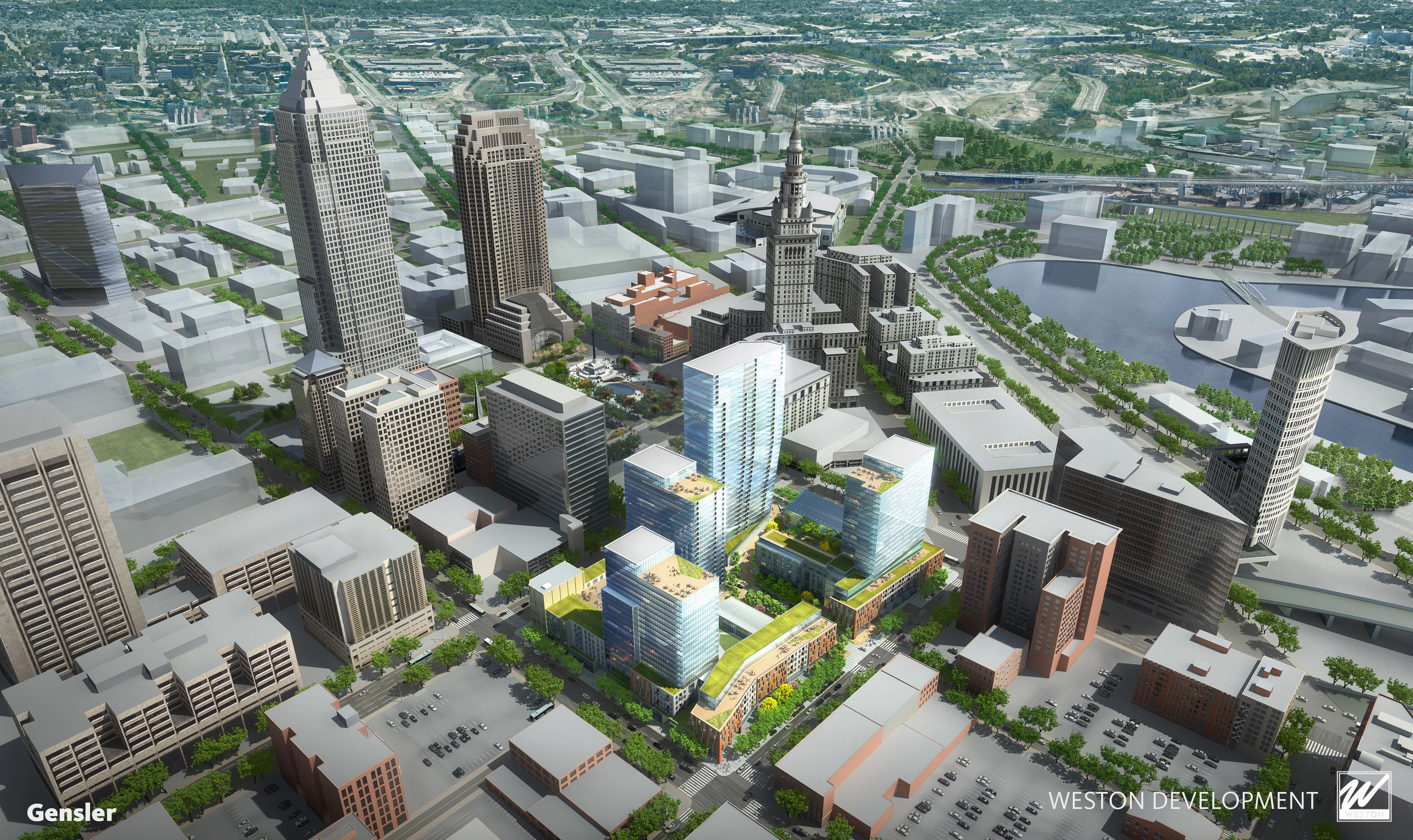 One of the best urban development sites in the country to be transformed into new walkable neighborhood in center of Downtown Cleveland