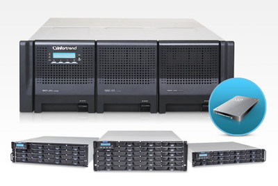 Infortrend EonStor DS 3000T RAID systems and SSD solutions (PRNewsFoto/Infortrend Technology Inc.)