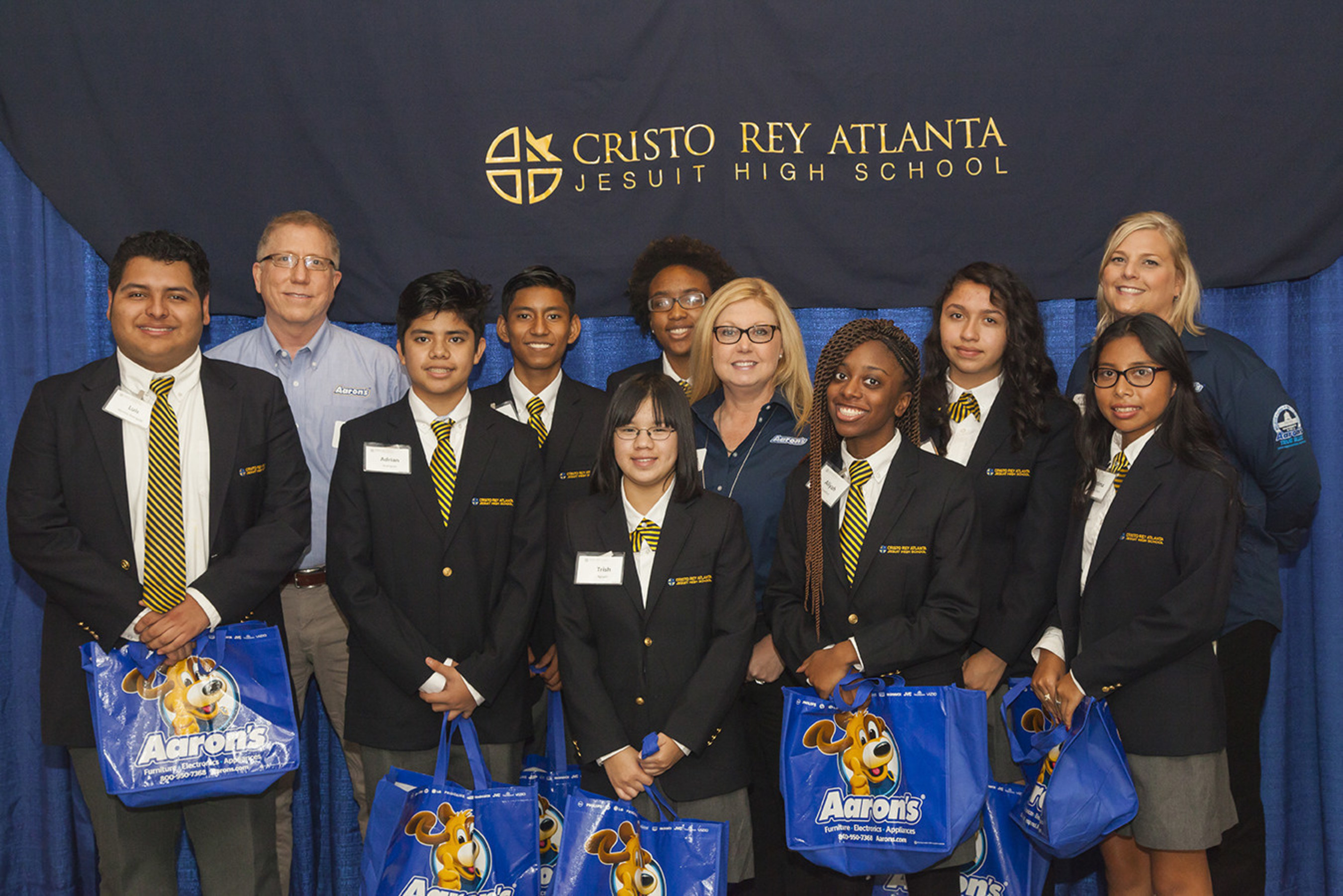 Aaron's Hosts Corporate Work Program For Atlanta Cristo Rey Students