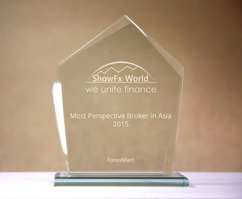 ShowFx World recognized ForexMart as Most Prospective Broker in Asia in 2015 (PRNewsFoto/Forexmart.com)