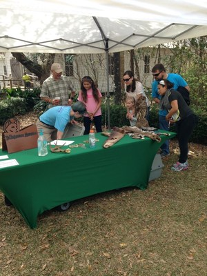 Families of wounded veterans learn about native Florida wildlife.