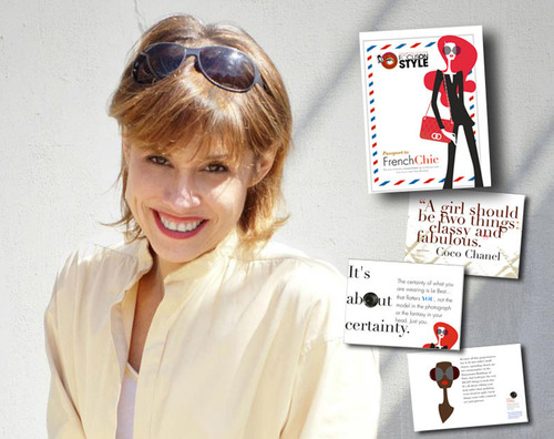 "Sharon Haver, style & fashion expert founder of FocusOnStyle.com gives away ""Passport to French Chic"" iBook when joining the stylist tips newsletter.  (PRNewsFoto/FocusOnStyle.com / Poodle Productions)"