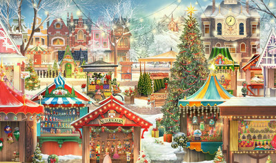 """Highly-Anticipated New Jacquie Lawson """"Christmas Market"""" Advent Calendar Released"""