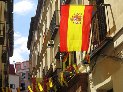 The streets are filled with color on any given day in Spain.  (PRNewsFoto/Magellan Study Abroad)