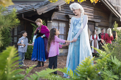 Anna and Elsa visit Norway with Disney Cruise Line--In a Port Adventure like only Disney can do, Anna and Elsa join a traditional Norwegian summer celebration for their first appearance in the land that inspired their story. As part of the Disney Cruise Line Northern European summer season, the Disney Magic sails to ?lesund, Norway. (Concept photo: David Roark, photographer)