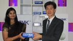 Sujatha with PJ Yeo, MD, ESYINK at the launch of ESYINK