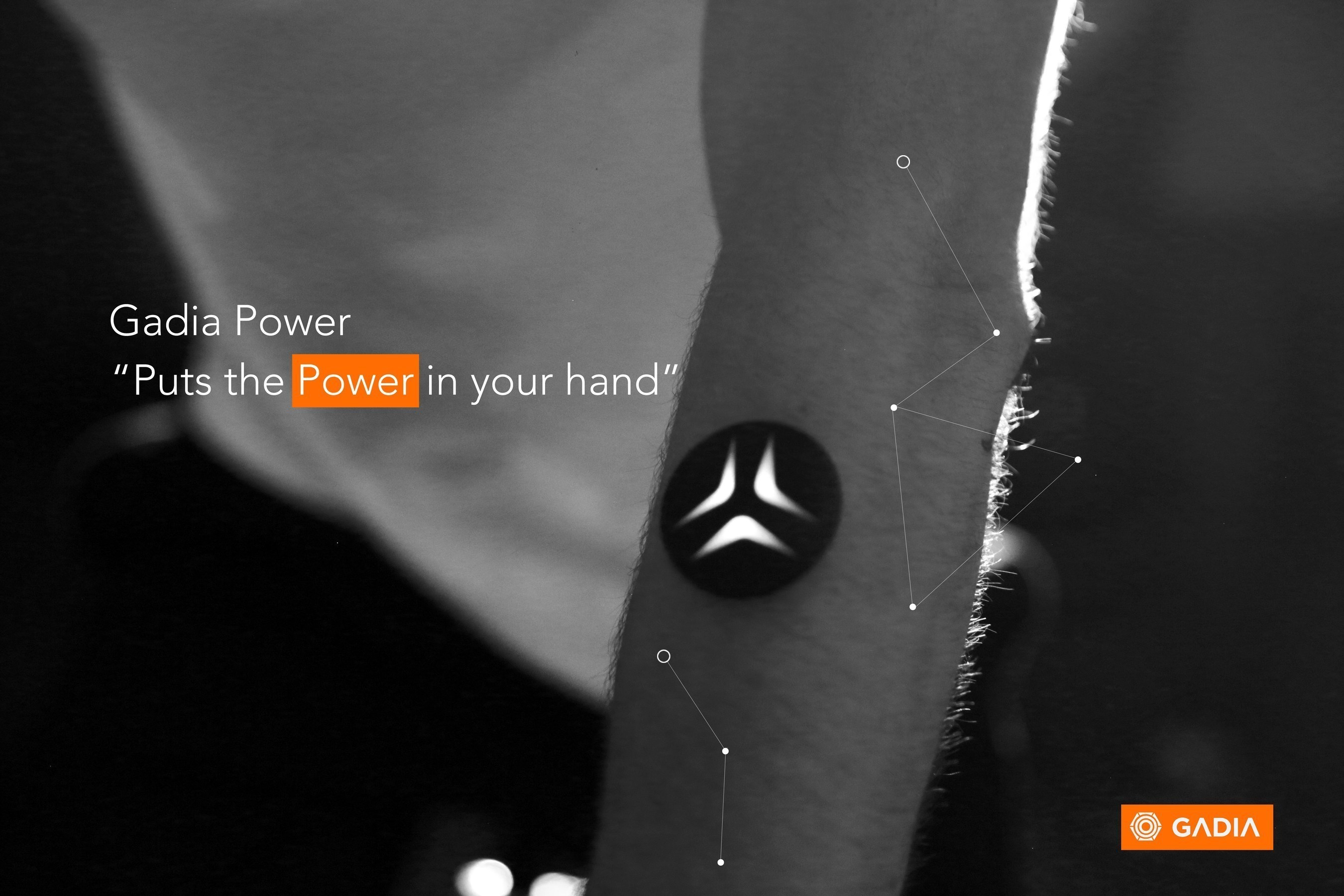 A view of Gadia Power, a bio-sensing gesture control wearable. The project has now launched on Indiegogo.