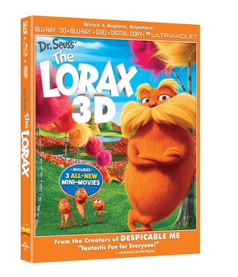 Dr. Seuss' The Lorax Available on Blu-ray 3D Combo Pack.  (PRNewsFoto/Universal Studios Home Entertainment)