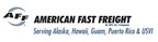American Fast Freight logo and tagline (PRNewsFoto/American Fast Freight)