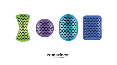 Available in four shapes and colors, remodeez provides an odorless and non-toxic solution to remove - not mask - everyday odors.