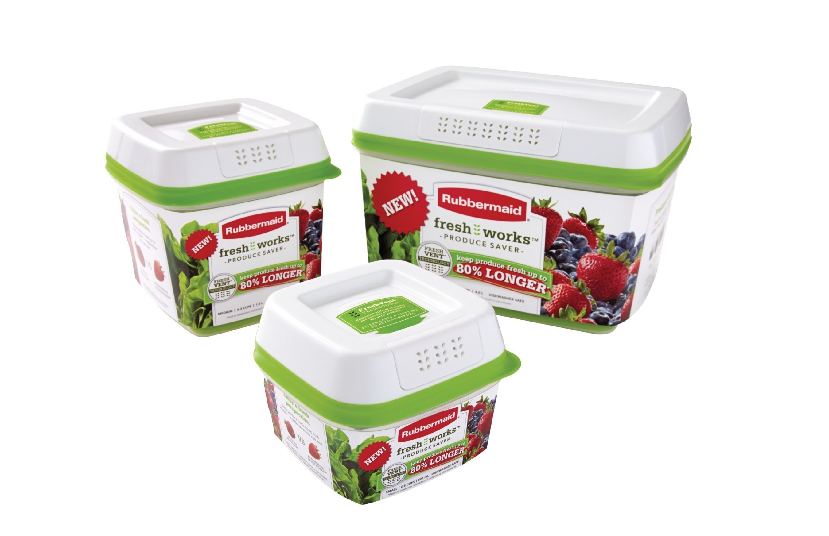 FreshWorks(TM) Keeps Produce Fresher Up to 80% Longer  sc 1 st  PR Newswire & Rubbermaidu0027s Breakthrough Innovation In Food Storage Extends The ...