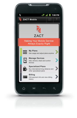 Introducing Zact: The industry's first smart mobile service provider that gives people a whole new level of control and flexibility over their voice, text and data services with a 'Never Overpay Guarantee'