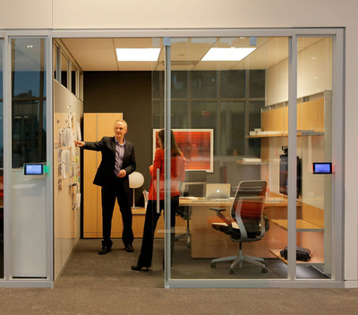 Steelcase creates mindful spaces to help reduce distraction and interference.  (PRNewsFoto/Steelcase)