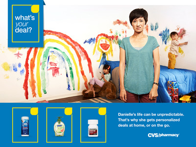 """What's your deal?,"" an ad campaign created by CVS/pharmacy, is designed to help ExtraCare members understand the benefits of myWeekly Ad, a new personalized circular tailored to each customer.  (PRNewsFoto/CVS/pharmacy)"