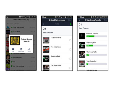 LINE Partners with Critics Choice Television Awards 2014, Mobile Users Contribute to Red Carpet Fashion Coverage & Predict Award Winners