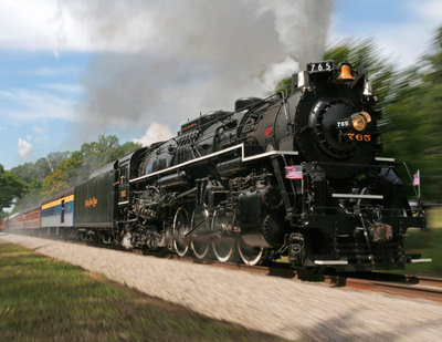 Nickel Plate locomotive NKP 765, owned and operated by the Fort Wayne Railroad Historical Society.  (PRNewsFoto/Norfolk Southern Corporation)