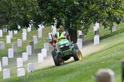 Hundreds of Lawn Care And Landscape Professionals Donate Their Services To Care For The Grounds Of Historic Arlington National Cemetery On July 28 -- PLANET/Philippe Nobile Photography.
