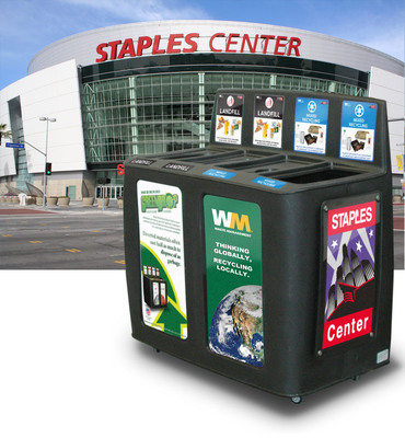 Staples Center.  (PRNewsFoto/GreenDrop Recycling)