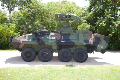 Raytheon Company successfully completed an initial round of live-fire testing with a new U.S. Marine Corps Light Armored Vehicle Anti-Tank (LAV-AT) weapon system. Photo: Raytheon. (PRNewsFoto/Raytheon Company) (PRNewsFoto/RAYTHEON COMPANY)