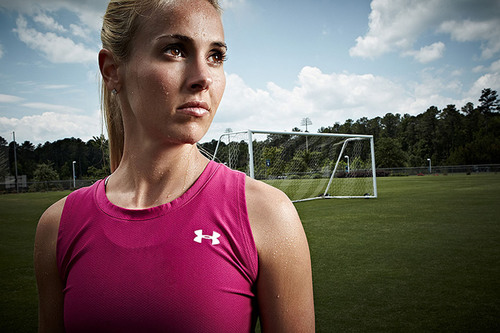 Heather Mitts, Member of the U.S. Women's National Soccer Team.  (PRNewsFoto/GNC Holdings, Inc., Victor Wang Studios)