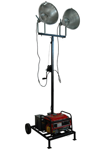Fully Portable Light Tower with 6000va Generator Released by Larson Electronics