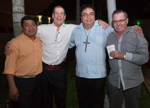 from left to right - Jose Martin Cauich, Mitchell Jay Keenan, Carloz Mendez and Ypke van de Haring. (PRNewsFoto/Merida Real Estate) (PRNewsFoto/MERIDA REAL ESTATE)