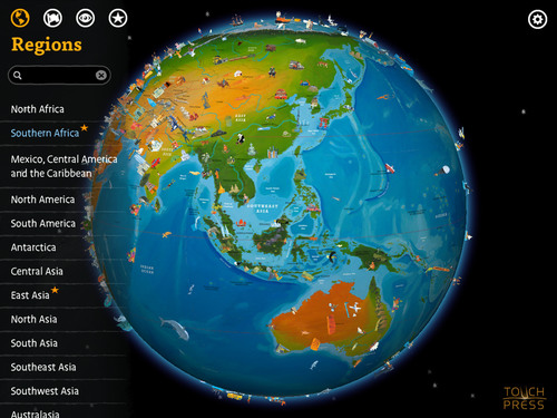 Barefoot world atlas a magical interactive globe app for the new ipad gumiabroncs Image collections