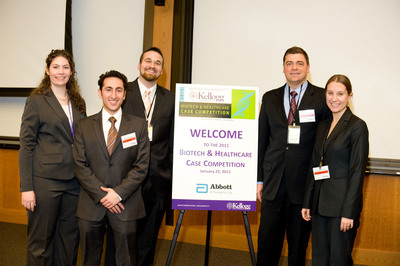 A team of Rutgers Pharmaceutical MBA students won the 8th annual Kellogg Biotech & Healthcare Case Competition in 2011. Rutgers Business School is hosting its first ever pharmaceutical case competition on November 10, 2012 with 11 business schools participating: Boston University, Columbia Business School, Duke University's Fuqua School of Management, George Washington University's School of Business, Georgetown University's McDonough School of Business, New York University's Stern School of Business, Pennsylvania State University's Smeal College of Business, University of Connecticut's School of Business, University of Rochester's Simon Graduate School of Business and Wake Forest University's School of Business.  (PRNewsFoto/Rutgers Business School)