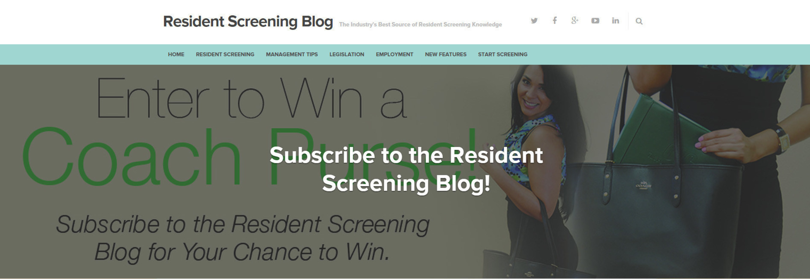 CIC announces new Resident Screening Blog with a Contest for New Followers