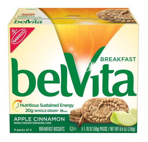 belVita Breakfast Biscuit, Apple Cinnamon variety.  (PRNewsFoto/Mondelez Global LLC)