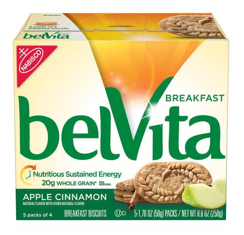 belVita Breakfast Biscuit, Apple Cinnamon variety. (PRNewsFoto/Mondelez Global LLC) (PRNewsFoto/MONDELEZ GLOBAL  ...