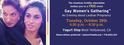 Gay Women's Gathering West Hollywood (PRNewsFoto/American Fertility Association)