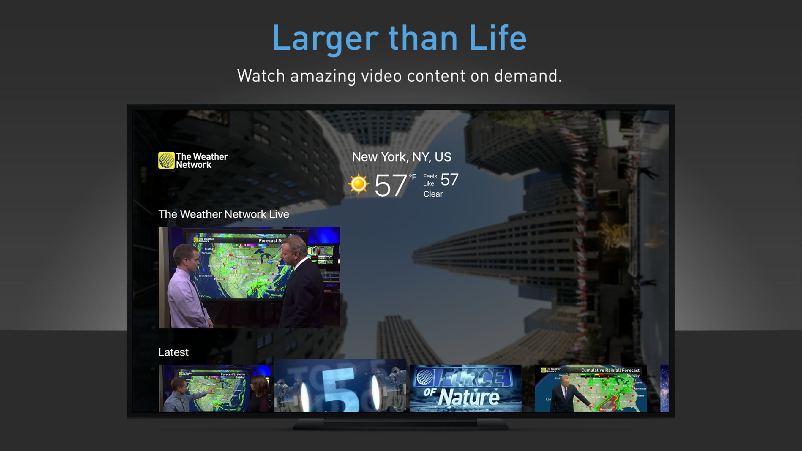 The Weather Network launches live weather Apple TV app channel